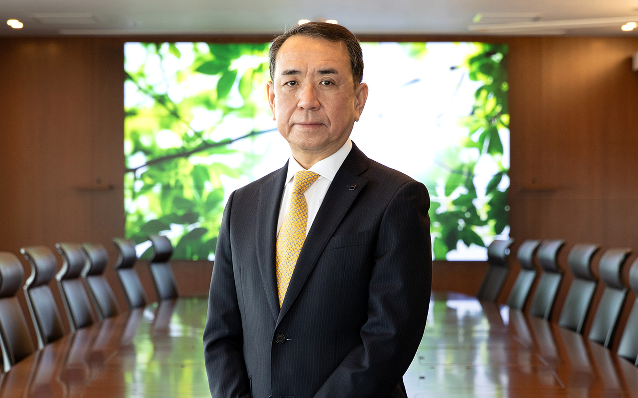 Akiyoshi Koji, President and Representative Director, CEO